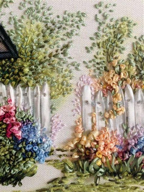 Pin By Alisa Pearson On Ribbon Artwork Pinterest Ribbon Embroidery Flower Garden