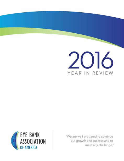 eye bank association eye bank association 2016 year in review by moire