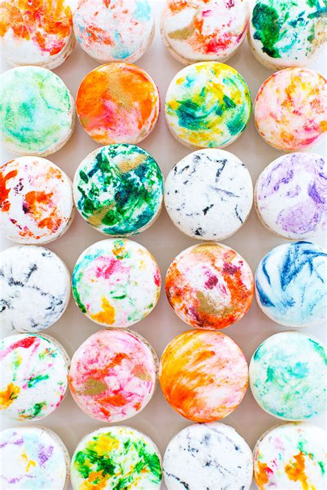 Unique Ideas For Home Decor Diy Marbled Macarons Macaron Decoration