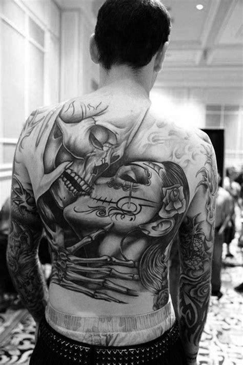 back skull tattoo tattoos for men