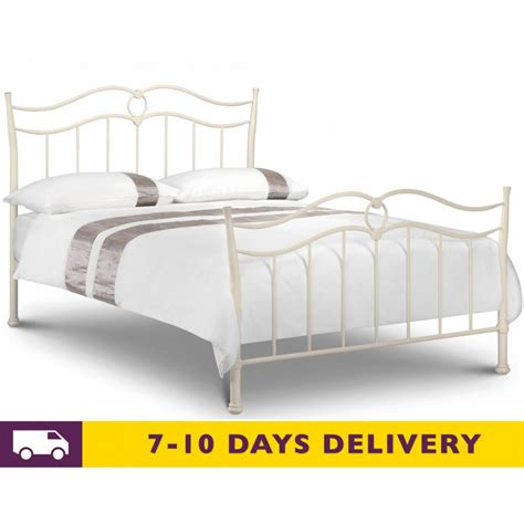 metal king size bed julian bowen 5ft katrina king size metal bed white