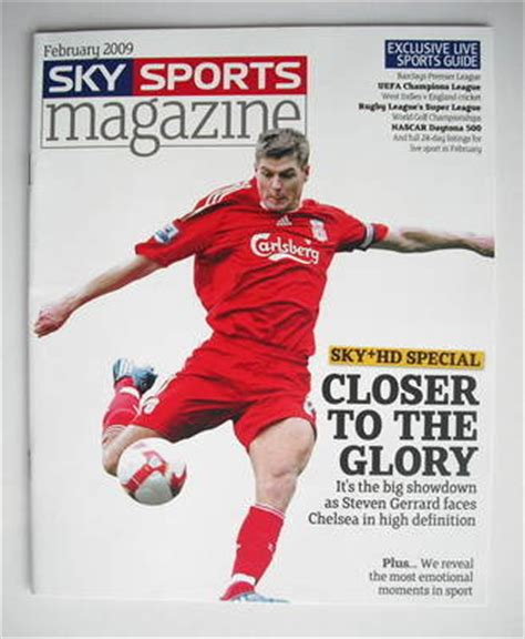 7 Best Sports Magazines by Sky Sports Magazine February 2009 Steven Gerrard Cover
