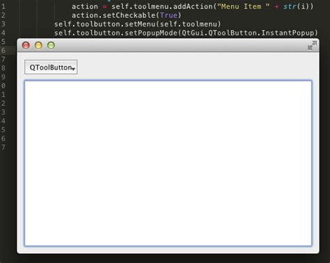 qmainwindow layout python how to make qtoolbutton stretch inside layout