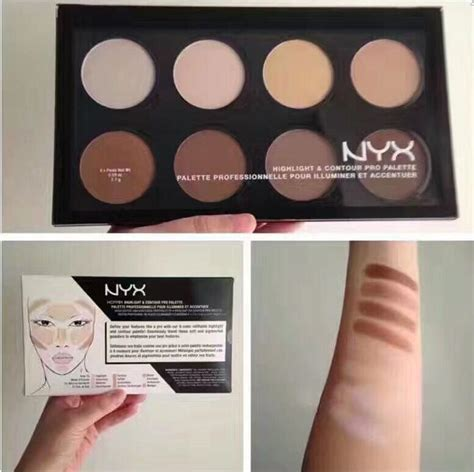 Nyx Highlight And Contour Pro Palette new nyx highlight contour pro palette powder 8 shadow