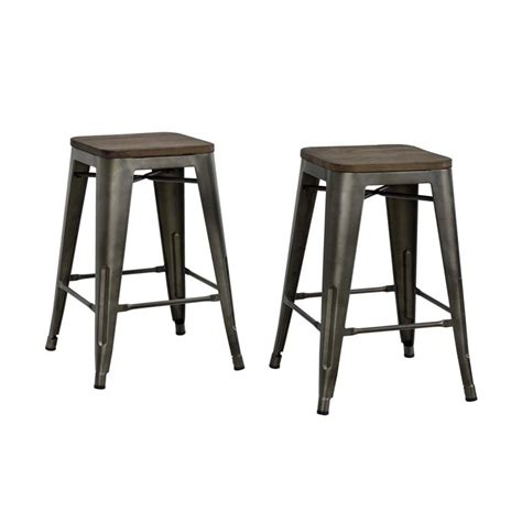 Industrial Metal Bar Stool 24 Quot Industrial Metal Counter Stool In Antique Copper S002106