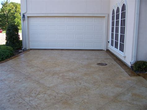Garage Driveway by Classic Crete Of Sted Concrete And Stained