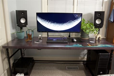 black iron pipe desk dyed maple and black iron pipe launchstation perfect