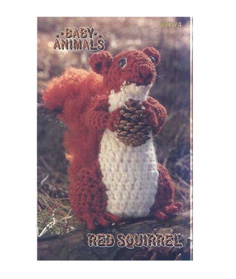 squirrel amigurumi by aminfriends on etsy 1000 images about amigurumi chipmunks squirrels on