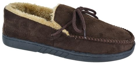 mens moccasin slippers uk mens slippers winter gents moccasin flat brown navy winter