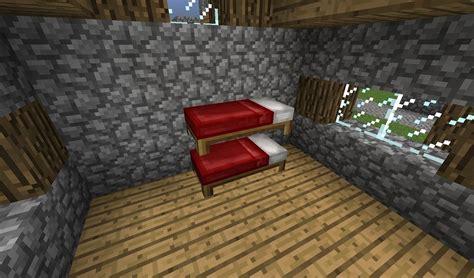 bett bauen minecraft ᐅ doppelstockbett in minecraft bauen minecraft bauideen de
