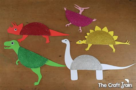 Paper Dinosaur Craft - sparkly paper plate dinosaurs the craft