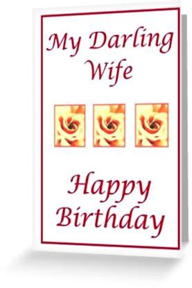 printable christmas cards for my wife quot large print happy birthday darling wife quot greeting cards