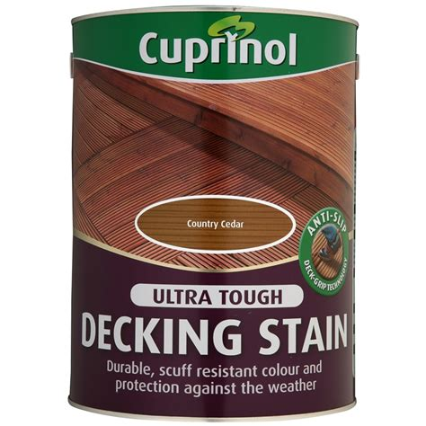 cuprinol anti slip decking stain country cedar  paint