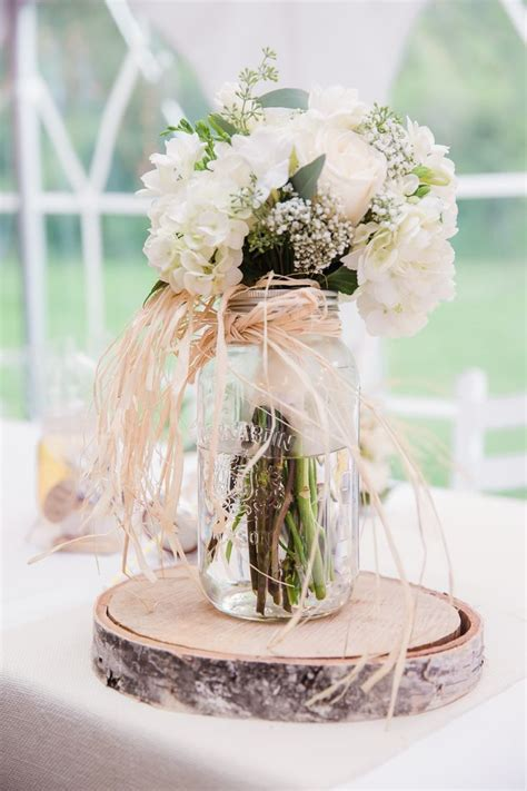 Rustic Mason Jar And Birch Wedding Centerpiece Ideas Jars Wedding Centerpieces
