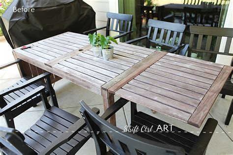 painting wood patio furniture painting the outdoor furniture how i got that barnwood color
