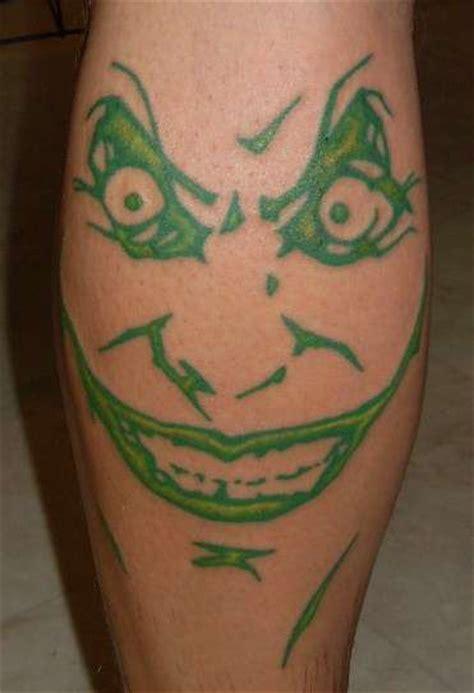 joker tattoo on face green joker face tattoo