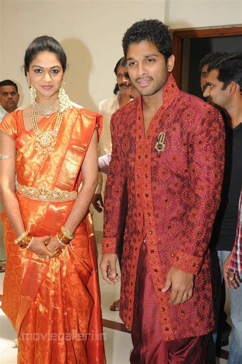 New Marriage Photo Stills by Allu Arjun Sneha Reddy Marriage Reception Photos Gallery