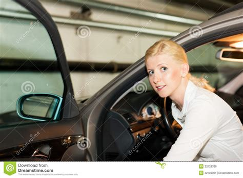Gets Into Another Car by Getting Into Car Royalty Free Stock Photos