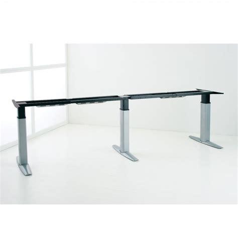 height adjustable desk frames conset dm23 sit stand desk frame 3 leg ergonomics now