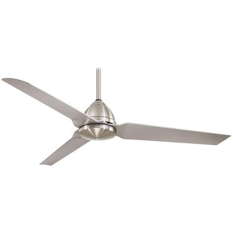 54 ceiling fan minka aire f753 bnw java nickel indoor outdoor 54 quot ceiling