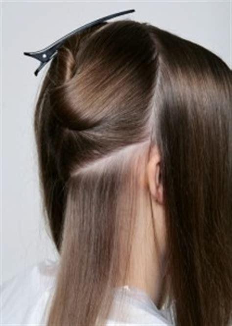 how to section hair for dying تقسيم الشعر إلى أجزاء المرسال