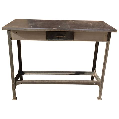 steel work bench for sale metal work bench for sale industrial brushed steel work bench table for sale at 1stdibs