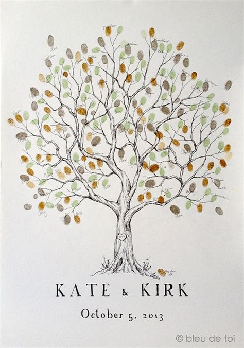 new year fingerprint tree wedding guest book alternative fingerprint tree new size