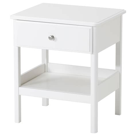 White Bedside Table Tyssedal Bedside Table White 51x40 Cm Ikea