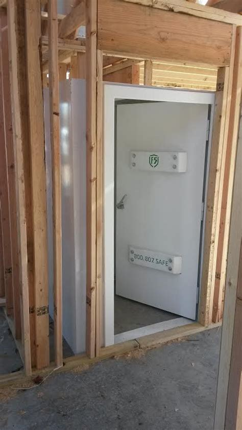 pre construction above ground safe room install we did for
