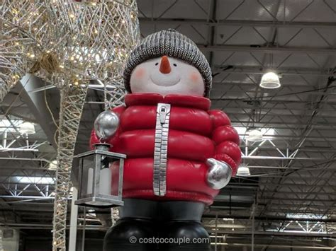 philips led lighted train engine standing snowman with led lantern