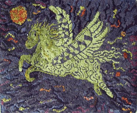 smith rug hooking patterns pegasus by smith pattern only or complete rug hooking kit