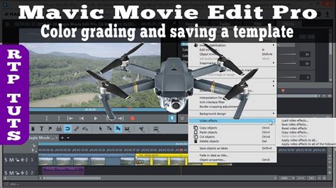 Magix Movie Edit Pro Dji Mavic Pro Color Grading Video Footage Saving As Video Effects Mavic Pro Foam Template