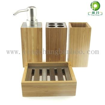 Cheap Bathroom Accessory Sets by Cheap Bamboo Wooden Bathroom Accessories Set Buy Wooden Bathroom Accessories Cheap Bathroom