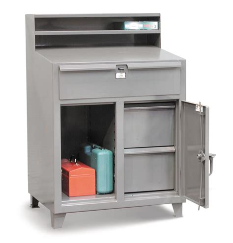 The Desk Shop Strong Hold Products Industrial Shop Desk With File Drawers