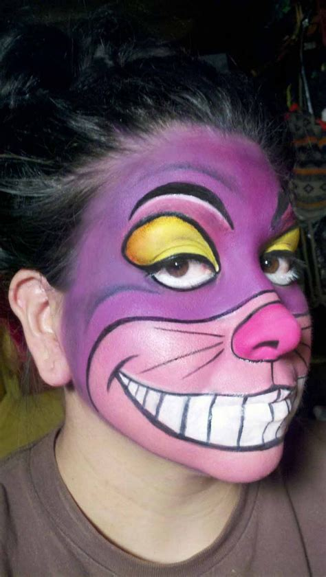 scary cat painting ideas this on cheshire cat makeup sweater