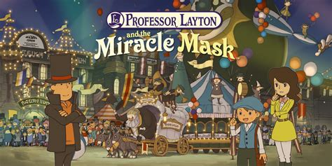 professor layton   miracle mask nintendo ds games nintendo
