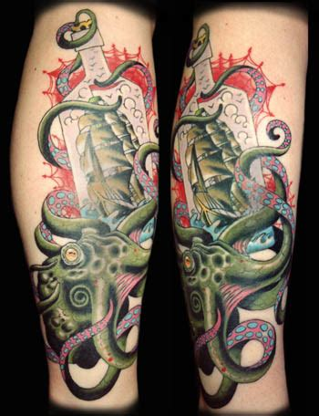 octopussy tattoo octopussy by orrin hurley tattoonow