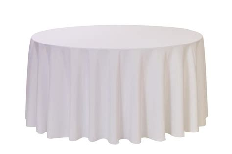 round table with white tablecloth 120 inch round polyester tablecloth white wedding