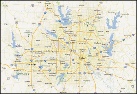printable map of dfw area map of dallas fort worth area pictures to pin on pinterest