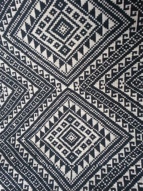 ethnic pattern fabric thai handwoven fabric tribal fabric natural cotton