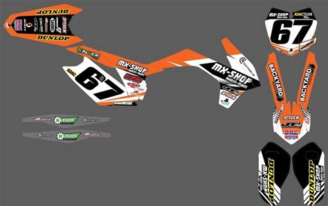 mx dekore mx shop team dekor kit 2015 16 ktm mx shop rhein