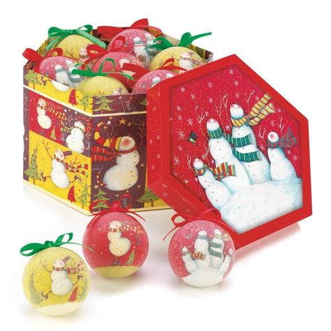 decorative ornament boxes snowman family ornament box set holiday deco christmas