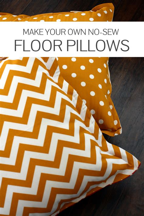 Make Your Own Floor Pillows no sew diy floor pillows