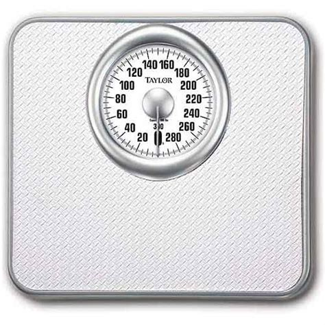best analog bathroom scale taylor mechanical analog bath scale white model 4832