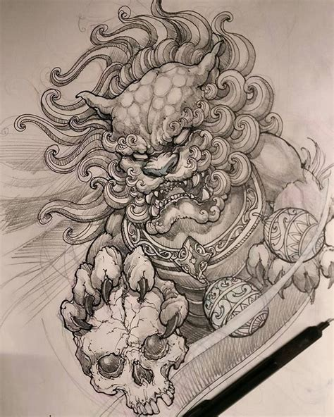 foo dog tattoo meaning tattoo collections