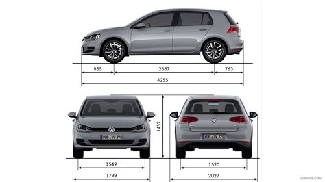 Volkswagen Golf Dimensions by Dimension Golf 7 Volkswagen Golf Interior Dimensions