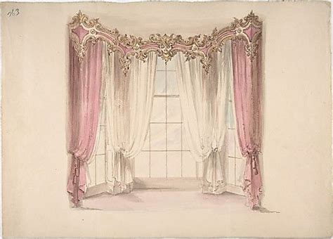 Gold And Pink Curtains Design For Pink Curtains And White Inner Curtains With A Gold White And Pink Pediment For