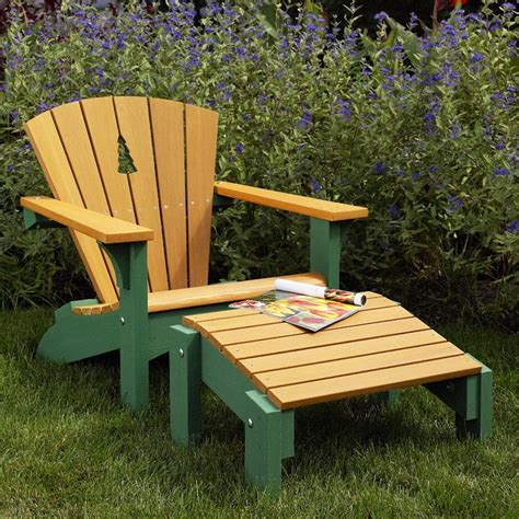 Adirondack Chair Ottoman Plans Adirondack Chair Footstool Woodworking Plan From Wood Magazine