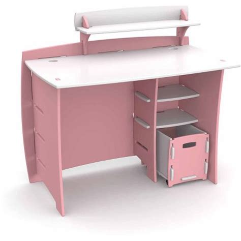 Kid Desk Furniture Legare Furniture Princess Series Collection Complete Desk System Set Pink And White