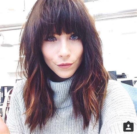 hairstyle ideas with a fringe 15 best of long hairstyles with full fringe